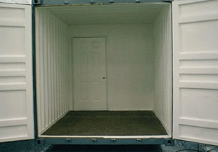 20′ PARTITIONED WALLS AND STEEL DOORS