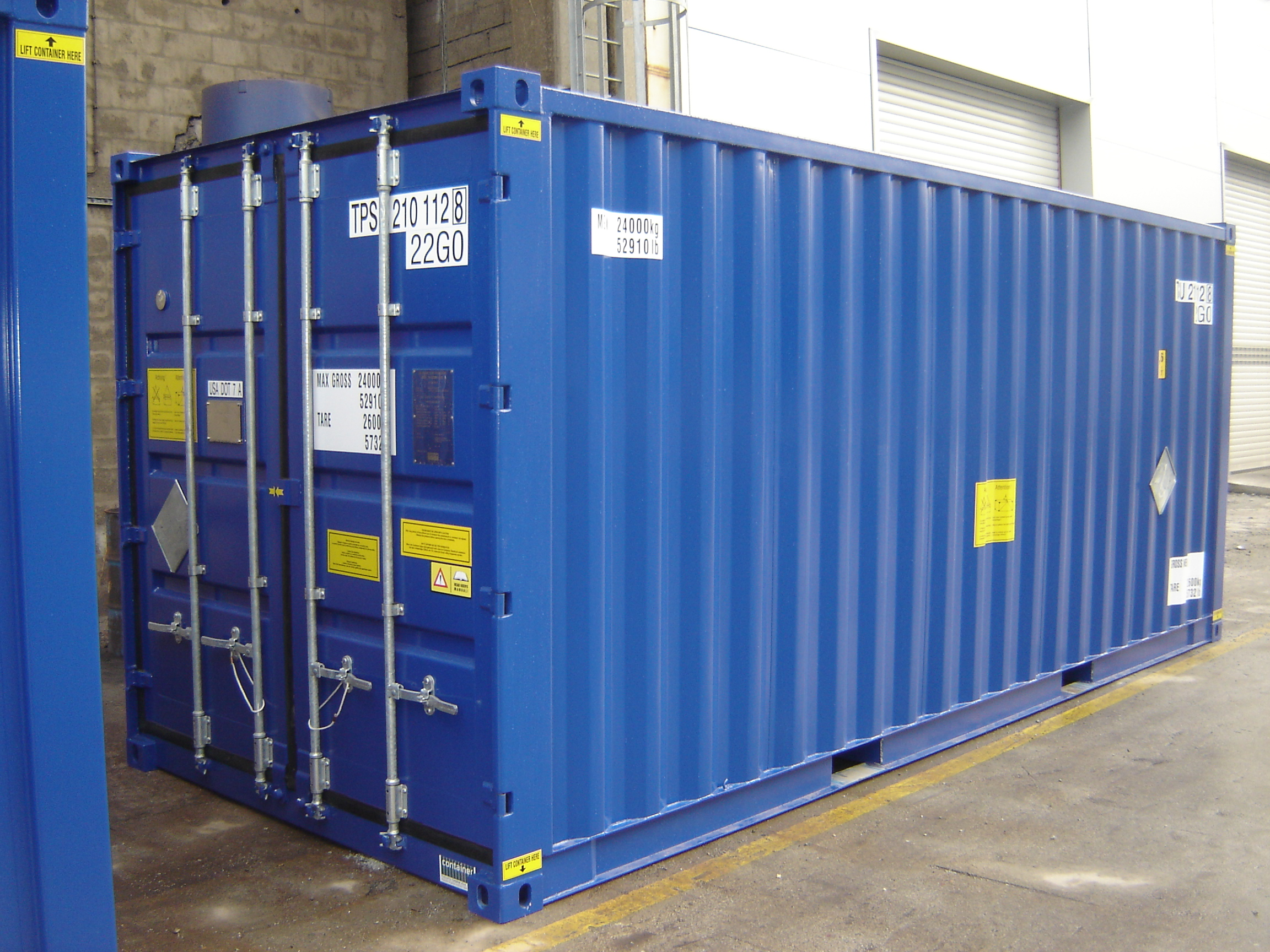 IP2/ISO Intermodal Shipping Containers