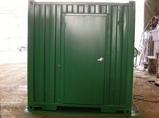 Basic Modified Shipping Container with Personal Door