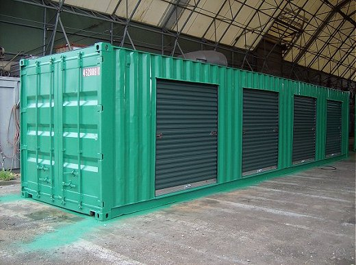 Basic Modified Shipping Container with Roll Up Doors