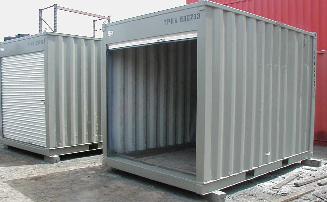 12 ft Shipping Container with Roll Up Door