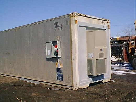 Custom Modified Cargo Container with HVAC Unit
