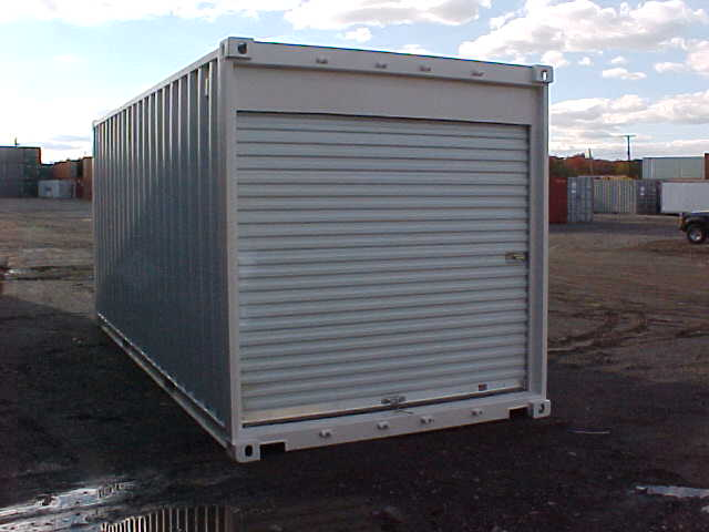 Custom Modified Shipping Container with Roll Up Door