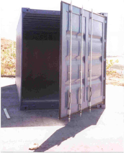 Full Open Door Freight Container