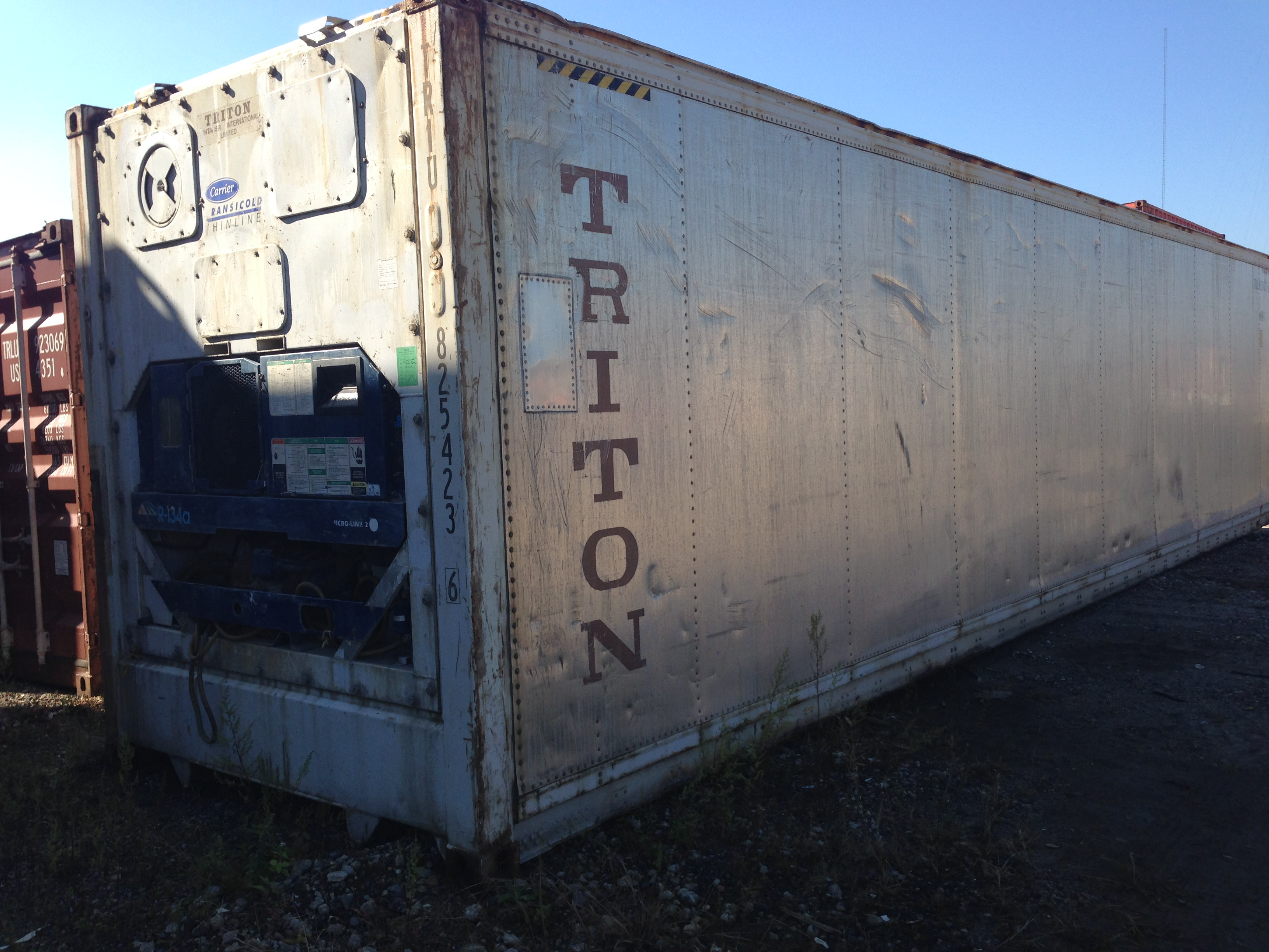 Used 40′ Refrigerated Freight Container Exterior