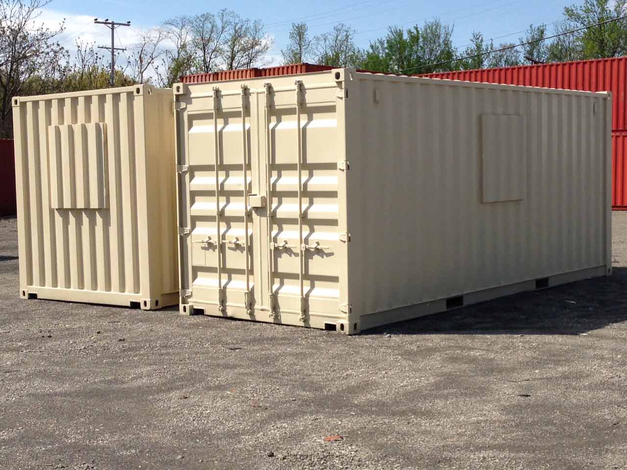20′ Freight Containers with Covered Openings