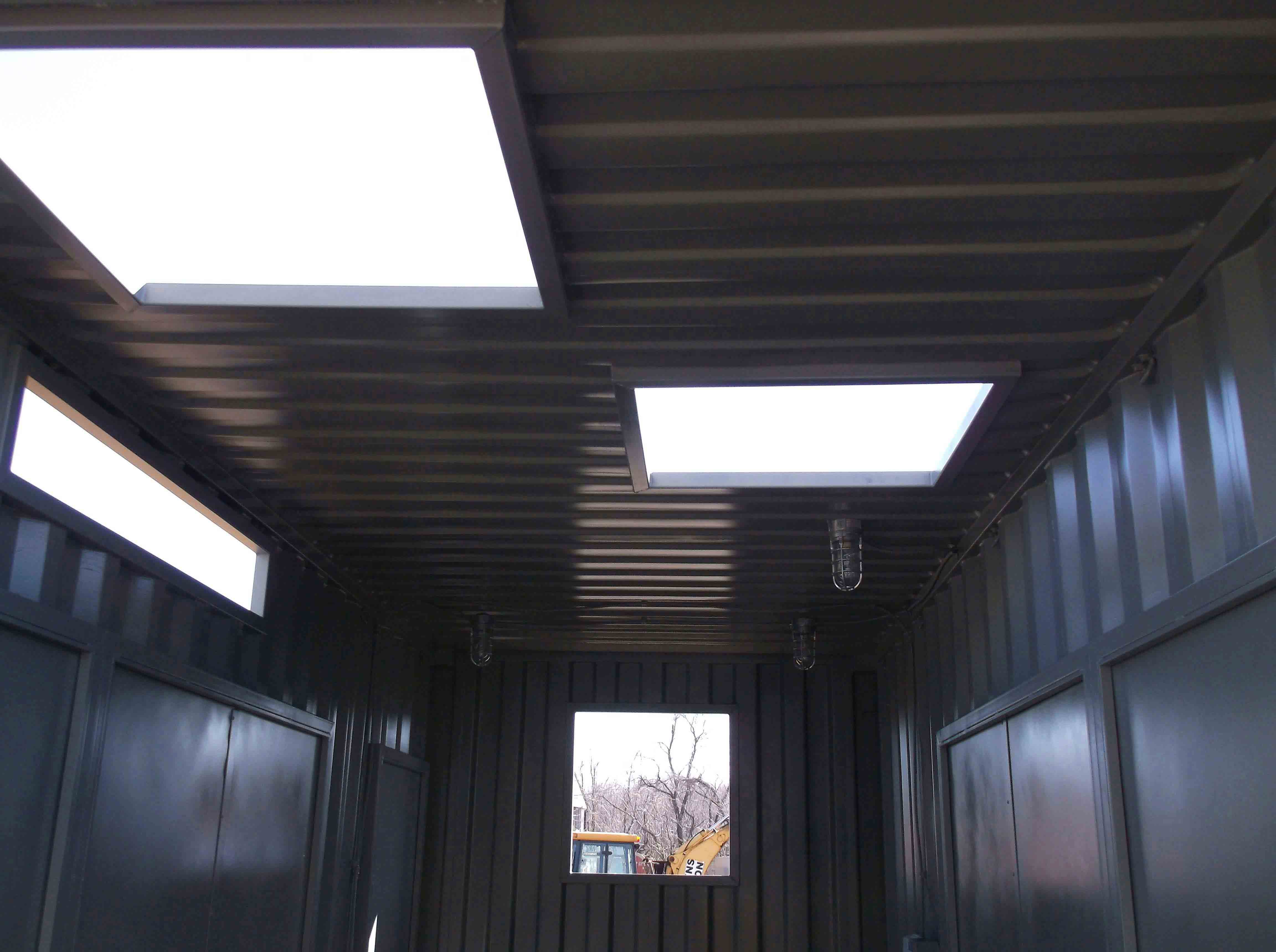20′ High Cube Container With Various Framed Openings Throughout