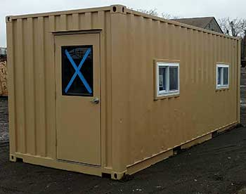 Used 20ft Container Repainted with Added  Windows & Doors