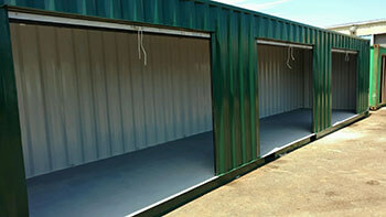 Shipping Containers Modified with Roll Up Doors