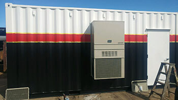 Modified Shipping Containers with Heat, Lighting, A/C
