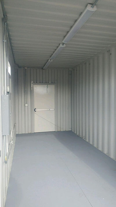 Modified Shipping Containers With Heat Lighting A C