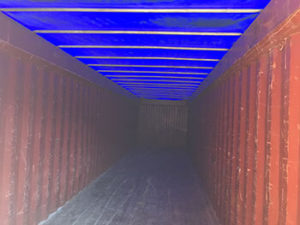 40' Used open top containers with removable tarp and roof bows for easy loading