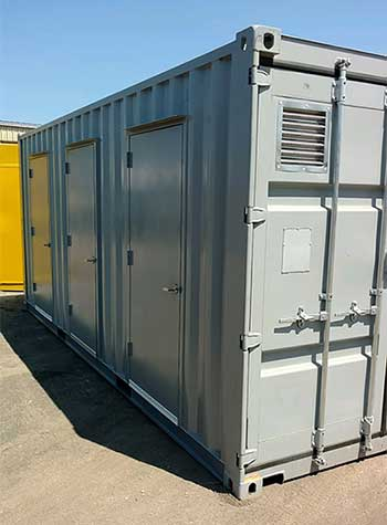 Shipping Container with Man Doors and Vent